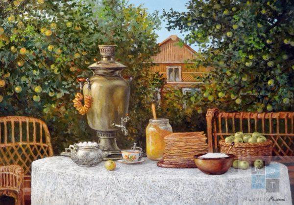 натюрморт_чай_на_даче_мельников