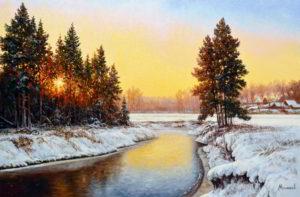 пейзаж_зимняя_речка_мельников_александр