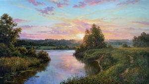 Тёплое лето художник Мельников