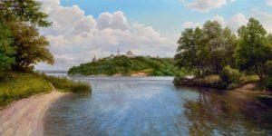 Вид на храм художник Мельников
