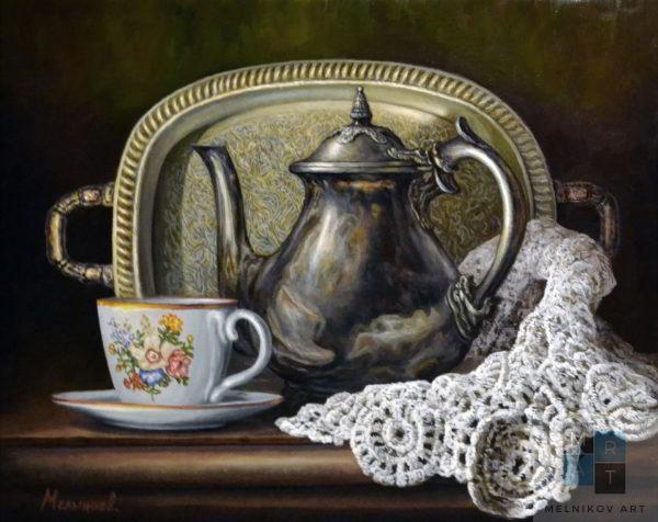чайный натюрморт художник Мельников Александр
