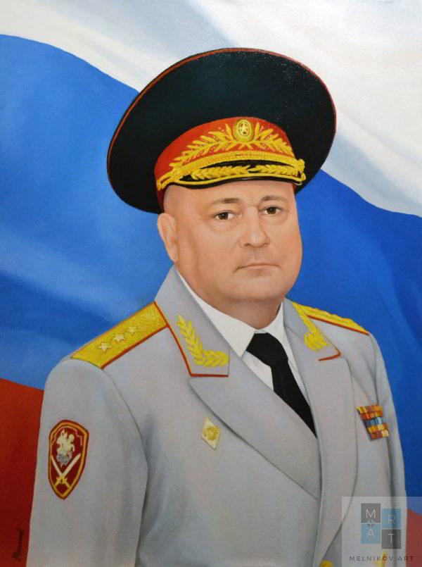 генеральский портрет художник мельников александр