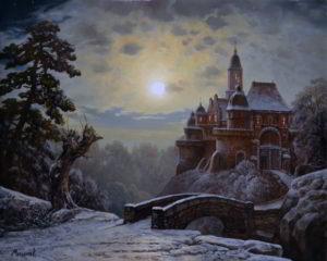 картина замок в ночи художник мельников александр
