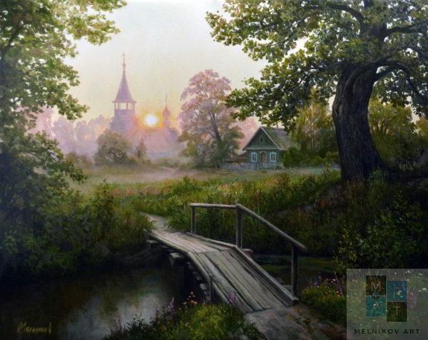 пейзаж Мостик к храму
