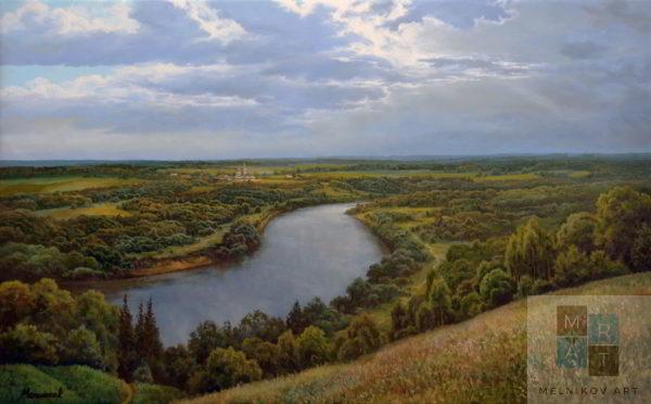 пейзаж Река. Лето