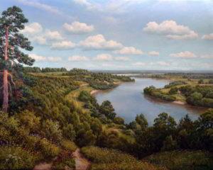пейзаж Вид на реку