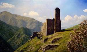 пейзаж Византийский храм в Алании